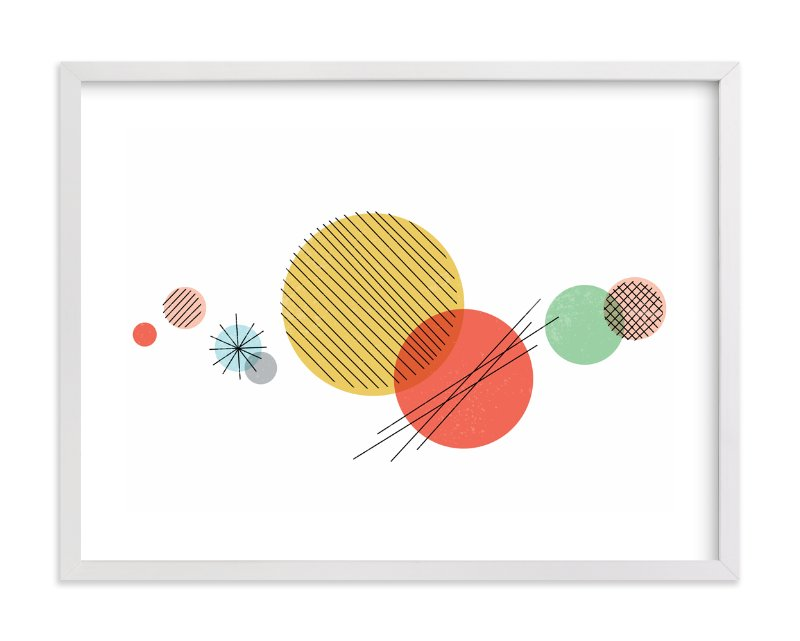 """Wonderful Solar System"" - Art Print by Jessie Steury in beautiful frame options and a variety of sizes."