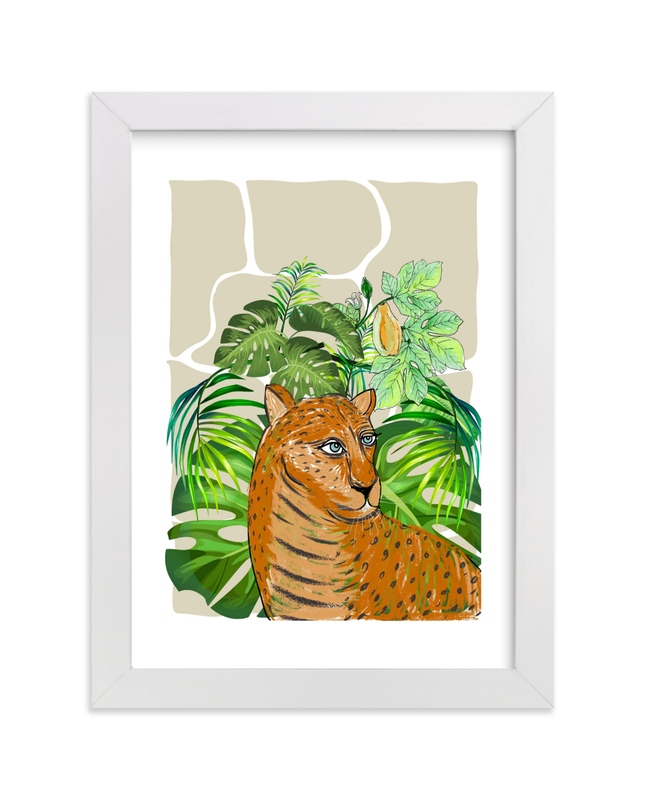 """""""Tropical Leo"""" - Art Print by Nikita Jariwala in beautiful frame options and a variety of sizes."""