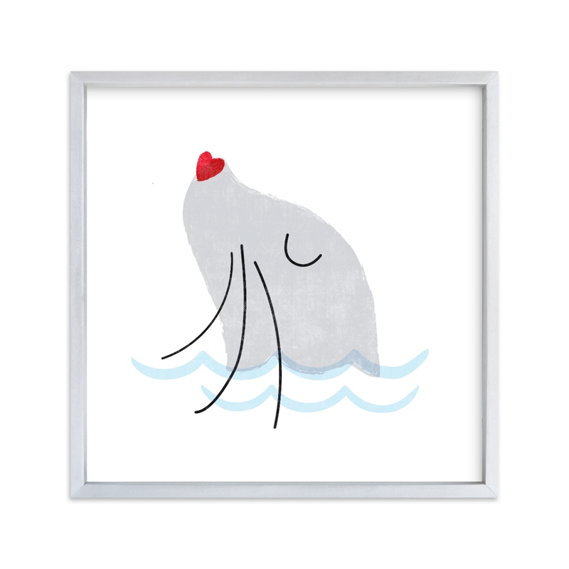 """""""Sweet Sea Lion"""" - Art Print by Jessie Steury in beautiful frame options and a variety of sizes."""