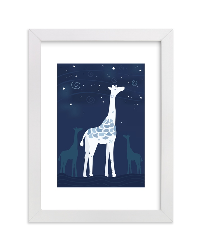"""Look at the Stars 1 Giraffe"" - Art Print by Jennifer Holbrook in beautiful frame options and a variety of sizes."
