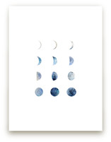 Moon Phases by Field and Sky