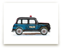 Vintage Police Car by Rebecca Marchese