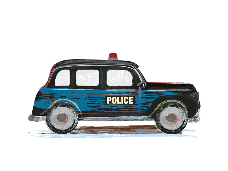 Vintage Police Car Wall Art Prints by Rebecca Marchese   Minted