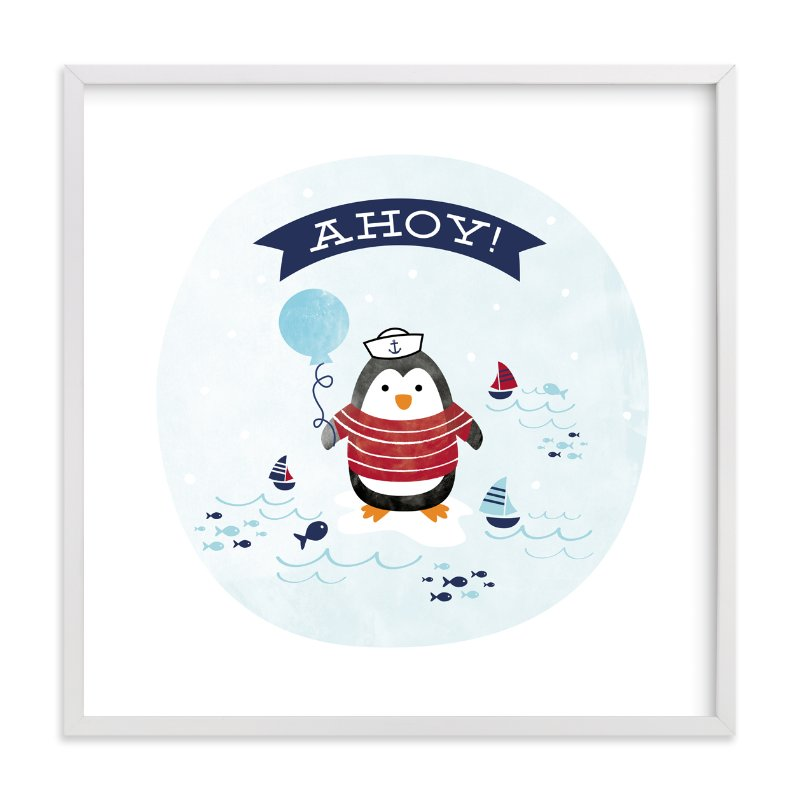 """Ahoy Matey!"" - Art Print by Shirley Lin Schneider in beautiful frame options and a variety of sizes."