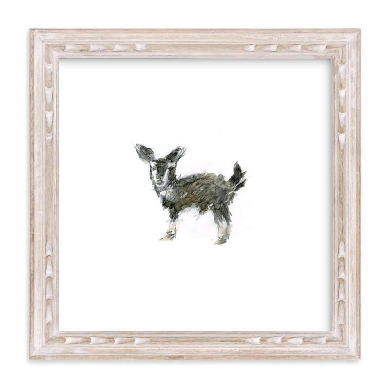 """""""Fuzzy Goat"""" - Art Print by Mande Calhoun in beautiful frame options and a variety of sizes."""