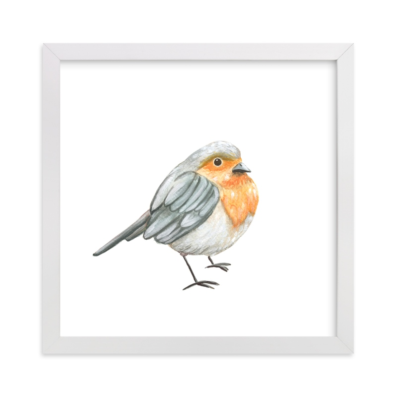 """My Robin"" - Art Print by Aga in beautiful frame options and a variety of sizes."