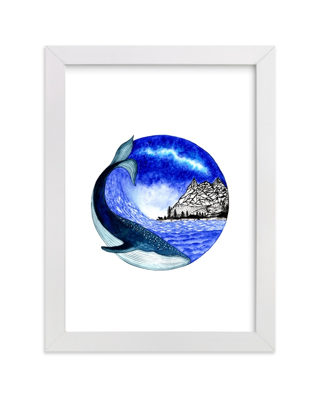 """""""Magical night"""" - Art Print by Nikita Jariwala in beautiful frame options and a variety of sizes."""