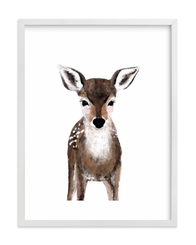 """""""Baby Animal Deer"""" - Art Print by Cass Loh in beautiful frame options and a variety of sizes."""