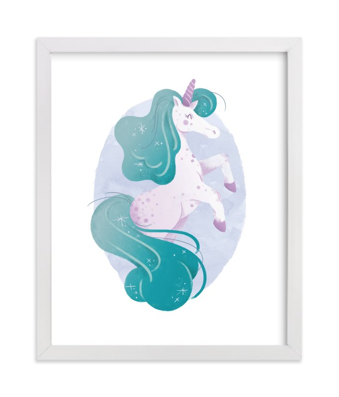 """One of a Kind Unicorn"" - Art Print by Sam Dubeau in beautiful frame options and a variety of sizes."
