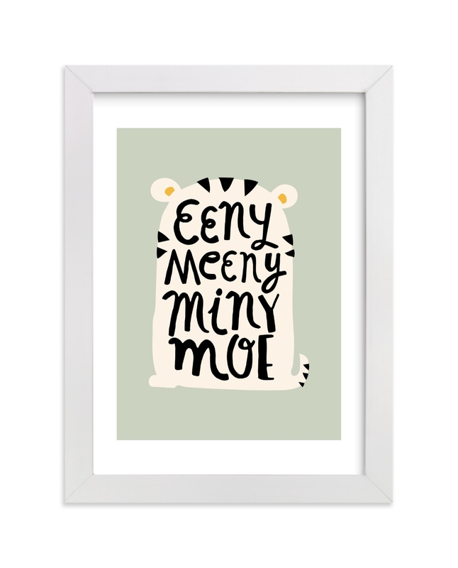 """""""Eeny Meeny Sage"""" - Art Print by Ariel Rutland in beautiful frame options and a variety of sizes."""