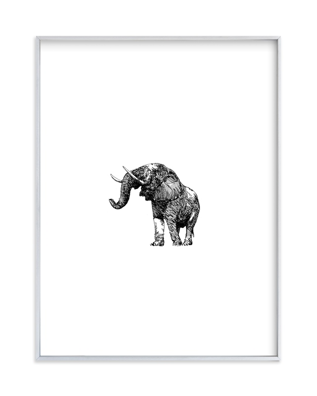 """pachyderme"" - Art Print by IMG_101 in beautiful frame options and a variety of sizes."