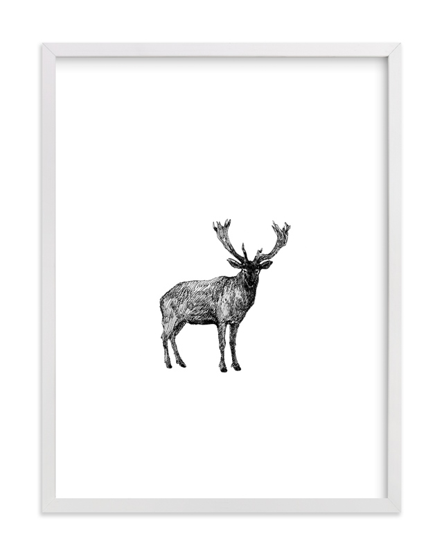 """""""Cerf"""" - Art Print by IMG_101 in beautiful frame options and a variety of sizes."""