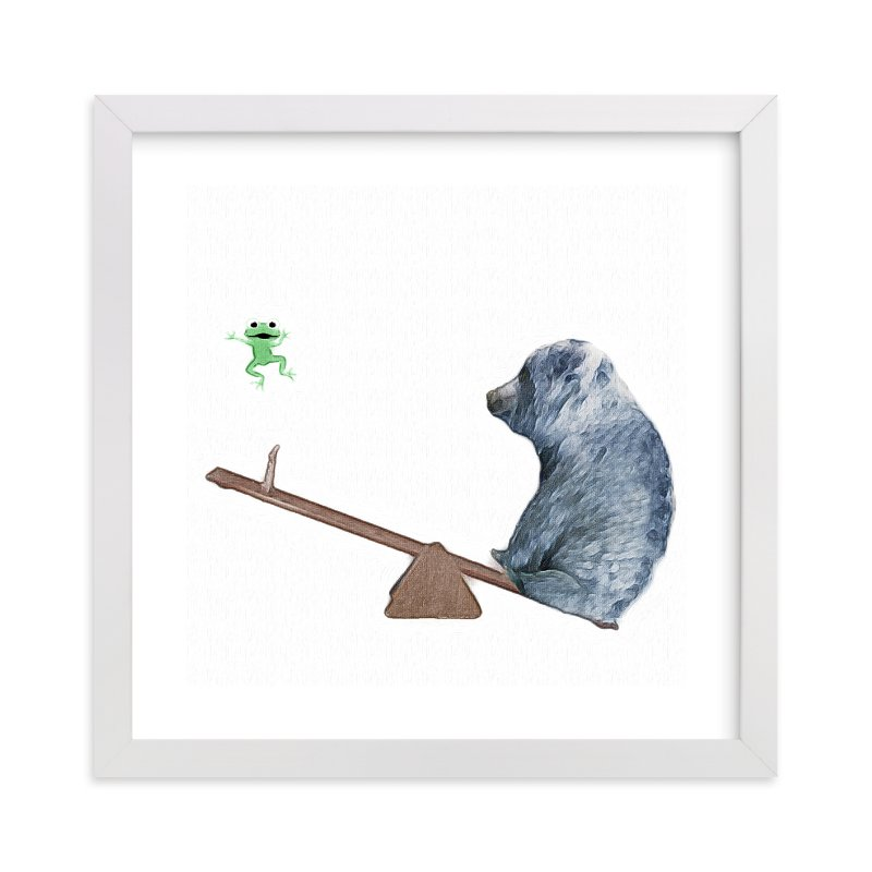 """See me go wee wee!"" - Art Print by Maja Cunningham in beautiful frame options and a variety of sizes."