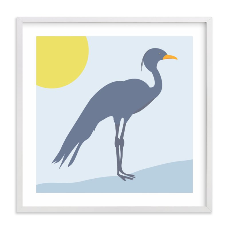 """""""Blue Crane"""" - Art Print by Red Impressionz in beautiful frame options and a variety of sizes."""