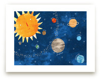 Sun and Planets by Evelline Andrya