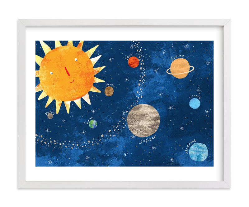 """Sun and Planets"" - Art Print by Evelline Andrya in beautiful frame options and a variety of sizes."