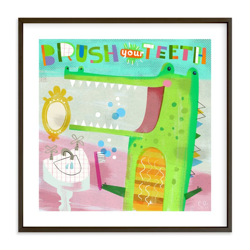 """""""Brush Your Teeth!"""" - Art Print by Chris Lensch in beautiful frame options and a variety of sizes."""