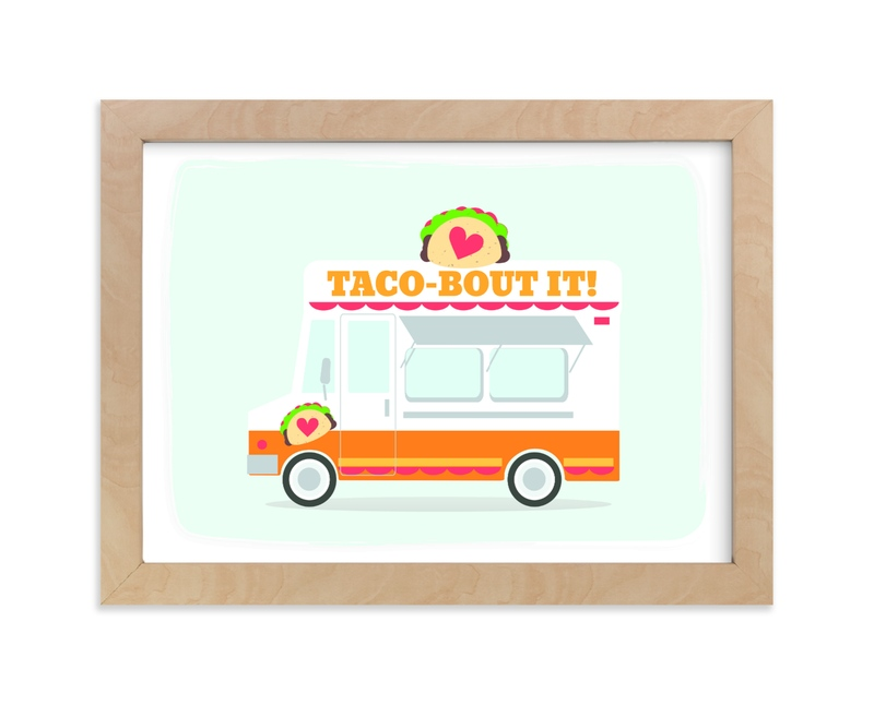 """""""Little Taco Truck"""" - Art Print by Itsy Belle Studio in beautiful frame options and a variety of sizes."""