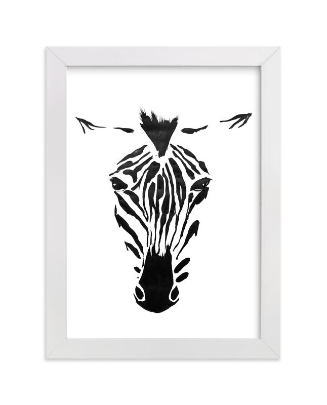 """Zealous Zebra"" - Art Print by Inkblot Design in beautiful frame options and a variety of sizes."