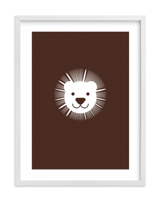 """""""Sophisticated Lion"""" - Art Print by three percent milk in beautiful frame options and a variety of sizes."""