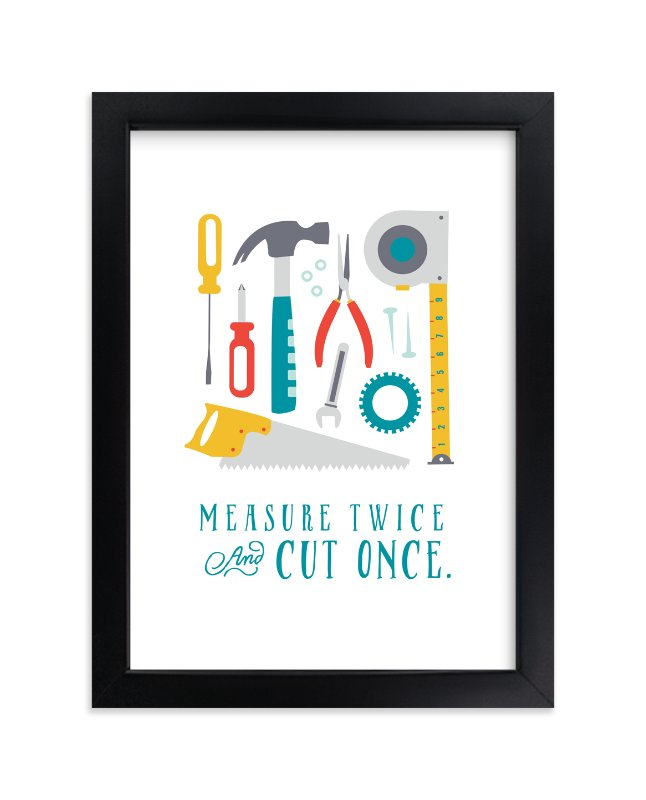 """""""Tool Box"""" - Art Print by Katie Zimpel in beautiful frame options and a variety of sizes."""