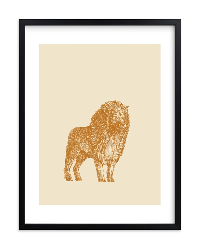 """the Lion"" - Art Print by IMG_101 in beautiful frame options and a variety of sizes."