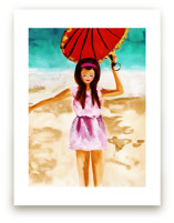 woman with umbrella by Jenny Partrite