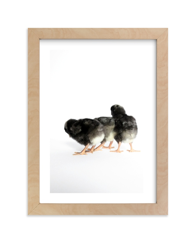 """Little Chicks"" - Art Print by Blustery August in beautiful frame options and a variety of sizes."