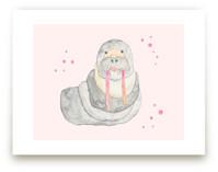 Pink Tusk Walrus by Nikki Rene