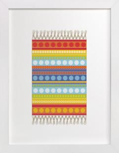 Boho Floral Rug Self-Launch Children's Art Print