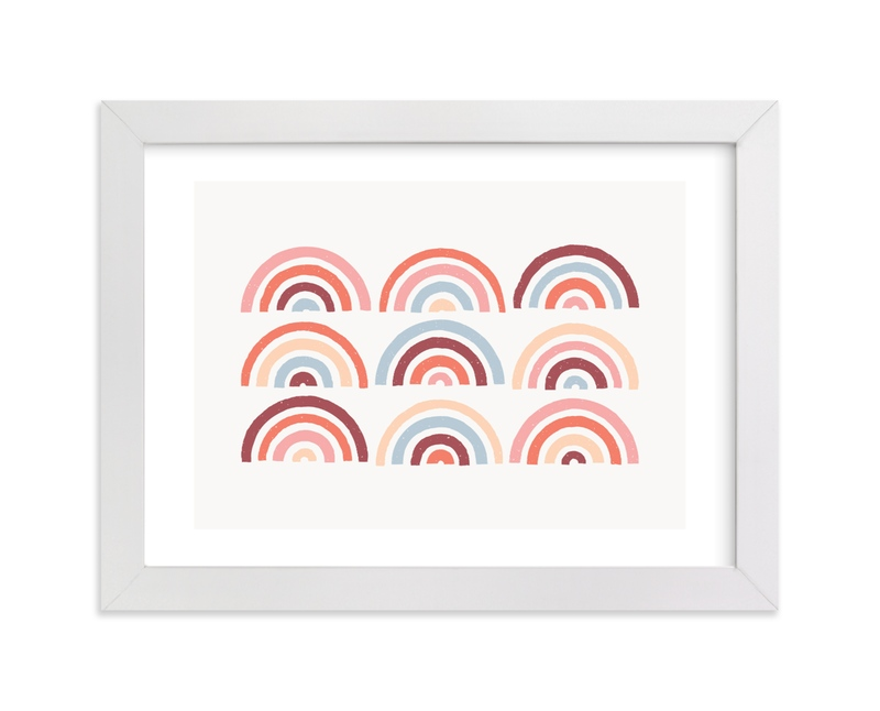 """""""Stamped Rainbows Art"""" - Art Print by Amber Barkley in beautiful frame options and a variety of sizes."""