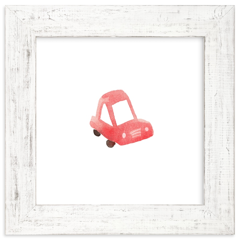 """""""Red Car Art"""" - Art Print by Jan Dolby in beautiful frame options and a variety of sizes."""