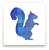 Blue Party Squirrel by Jeff Preuss