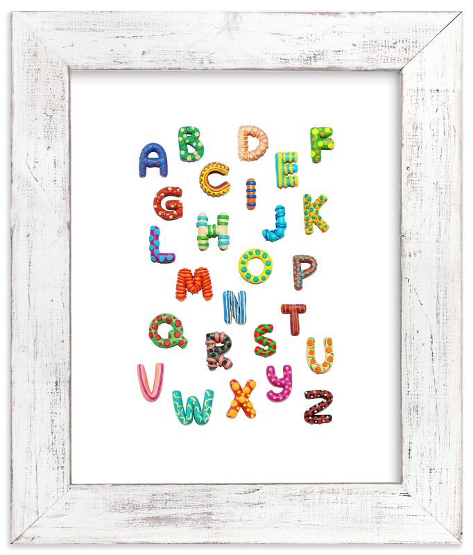 """Lovely ABC"" - Art Print by Alexandra Dzh in beautiful frame options and a variety of sizes."