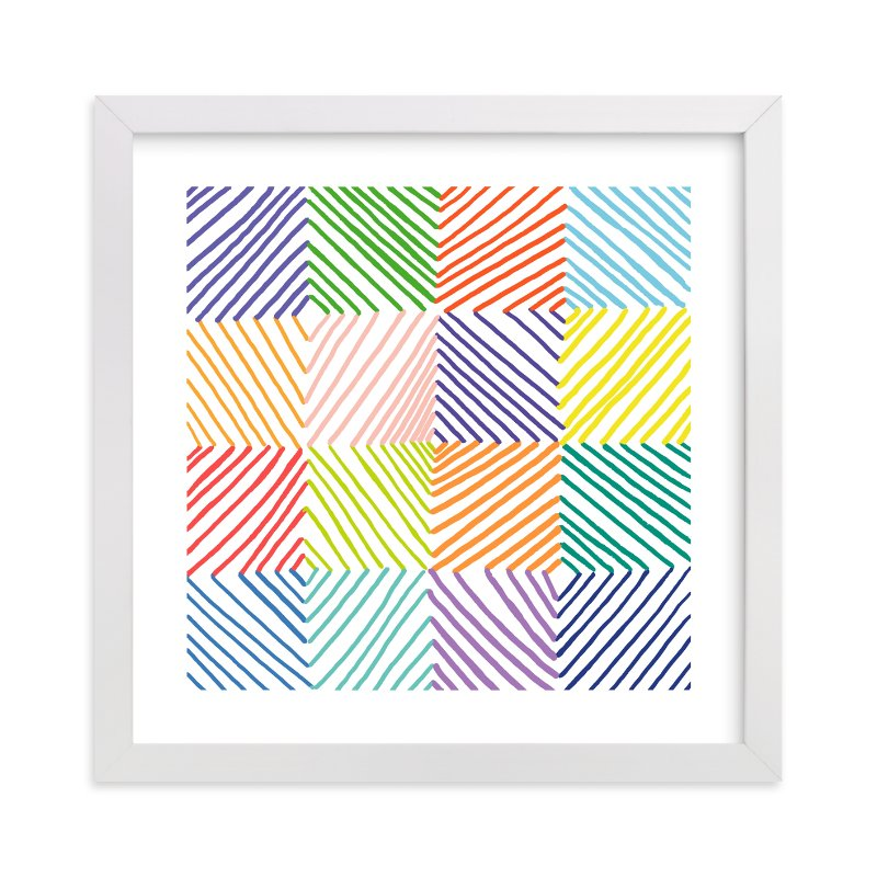 """Color Play 1"" - Art Print by Paper Dahlia in beautiful frame options and a variety of sizes."