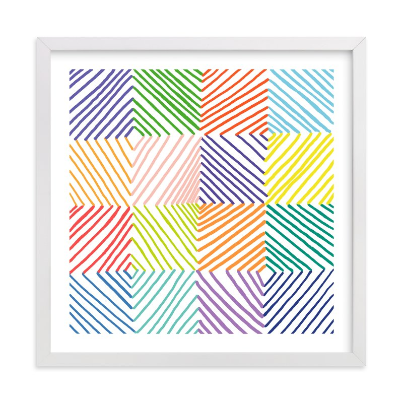 """""""Color Play 1"""" - Art Print by Paper Dahlia in beautiful frame options and a variety of sizes."""