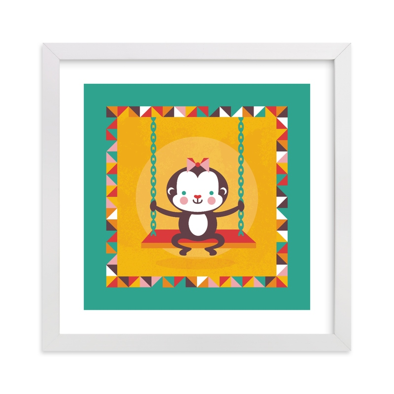 """Playground Monkey"" - Art Print by Mandy Rider in beautiful frame options and a variety of sizes."