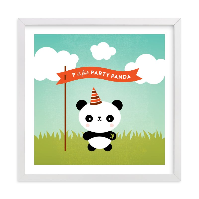 """""""Party Panda"""" - Art Print by Genna Cowsert in beautiful frame options and a variety of sizes."""