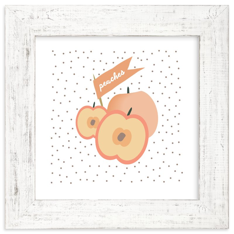 """""""Farmer's Market Peaches"""" - Art Print by Kate Capone in beautiful frame options and a variety of sizes."""