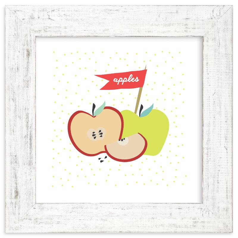"""""""Farmer's Market Apples"""" - Art Print by Kate Capone in beautiful frame options and a variety of sizes."""