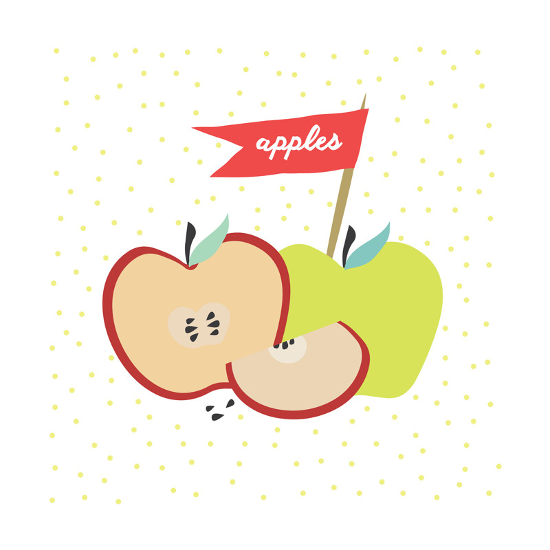 Farmer\'s Market Apples Wall Art Prints by Kate Capone | Minted