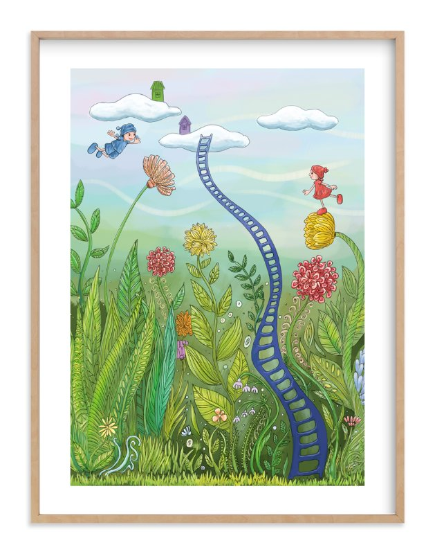 """Redy and Bluey - Flying Free"" - Art Print by Helen H Wu in beautiful frame options and a variety of sizes."