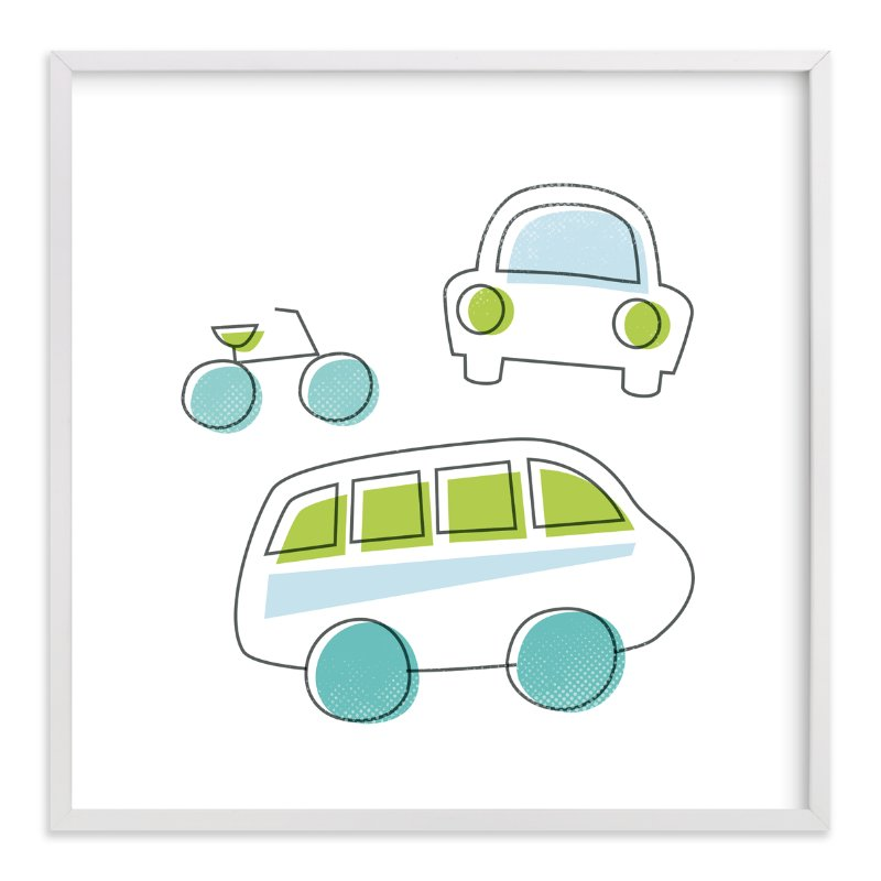 """""""Drive It"""" - Art Print by Jessie Steury in beautiful frame options and a variety of sizes."""