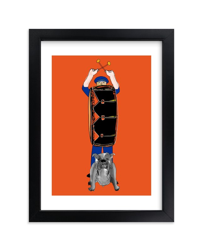 """""""Bang the Drum"""" - Art Print by Stuart Heir in beautiful frame options and a variety of sizes."""