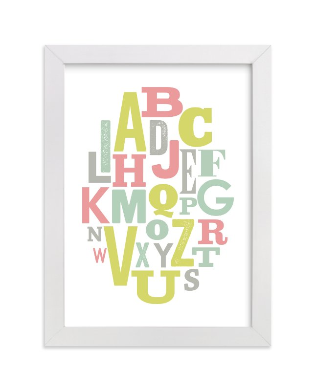"""""""Oval Alphabet"""" - Art Print by Leah Bisch in beautiful frame options and a variety of sizes."""