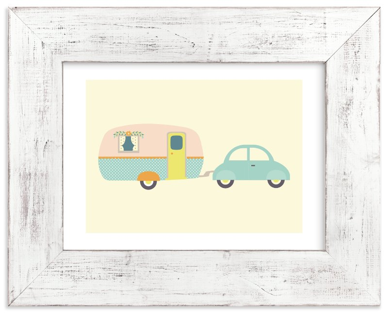 """Vintage Camper"" - Art Print by Annie Holmquist in beautiful frame options and a variety of sizes."