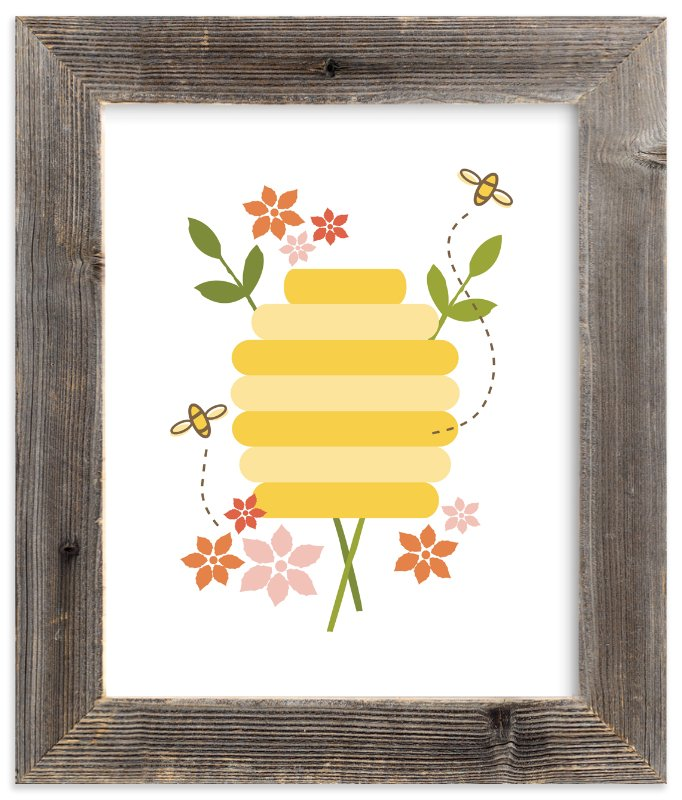 """Buzzing Beehive"" - Art Print by Katie Wahn in beautiful frame options and a variety of sizes."