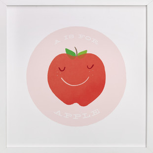 A is for Apple Self-Launch Children's Art Print