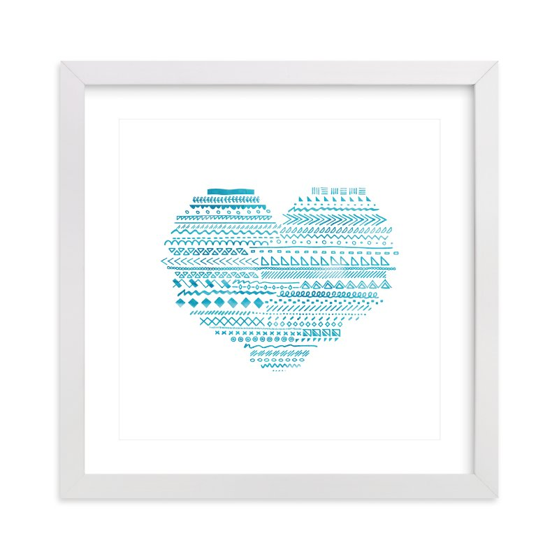 """Doodle Heart"" - Art Print by Chasity Smith in beautiful frame options and a variety of sizes."