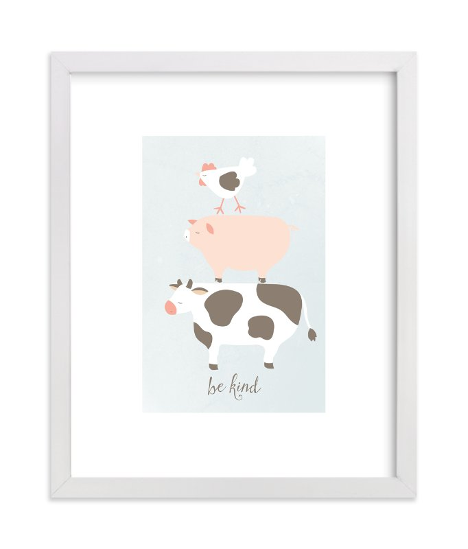 """""""Be Kind"""" - Art Print by peetie design in beautiful frame options and a variety of sizes."""